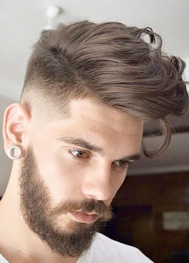 Short hairstyle for men side view
