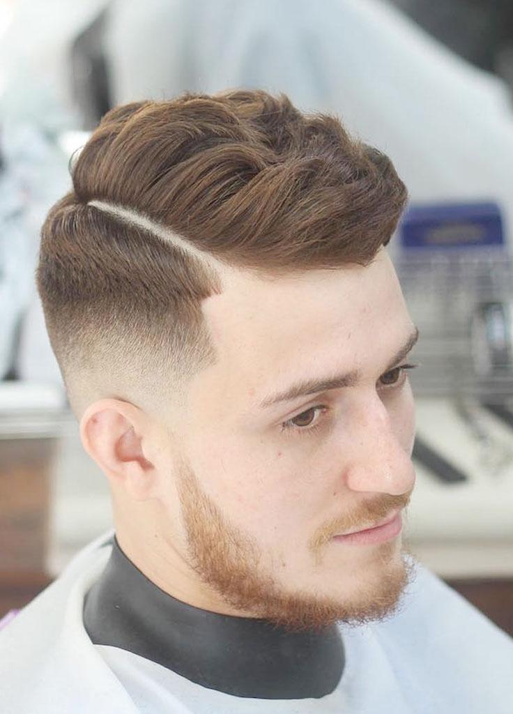 Taglio di capelli moderno per uomo